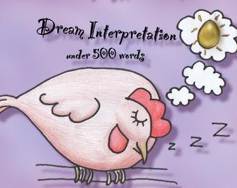 Dream interpretation donation (under 500 words)