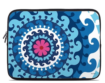 04db0a4f32b90a Laptop Sleeve Bag Case - Sus Blue by French Bull - Neoprene Padded - Fits  MacBooks + More