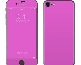 Solid Vibrant Pink - iPhone 7/7 Plus Skin - Sticker Decal