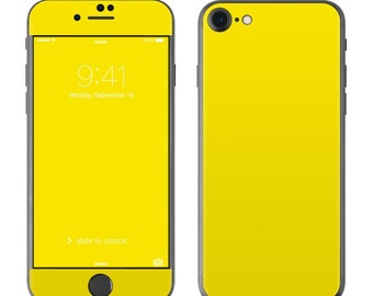 Solid Yellow - iPhone 7/7 Plus Skin - Sticker Decal