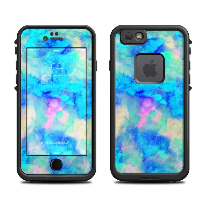 new arrivals ac22a 21651 Skin for LifeProof iPhone Case - Electrify Ice Blue by Amy Sia - Sticker  Decal - 7, 6/6S, Plus, 5/5S/SE, 5C, 4/4S, Fre, Nuud