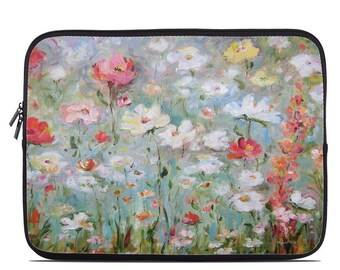 Laptop Sleeve Bag Case - Flower Blooms by Daniella Foletto - Neoprene Padded - Fits MacBooks + More