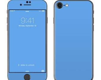 Solid Blue - iPhone 7/7 Plus Skin - Sticker Decal