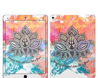 iPad Skin - Happy Lotus by True Spirit Art - for iPad mini, iPad Pro, iPad Air, Retina - Sticker Vinyl Decal