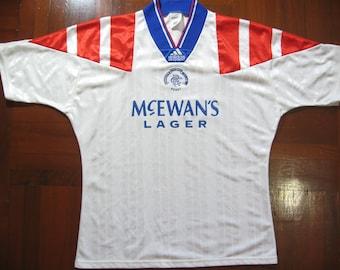 Originals Vintage Adidas Rangers Fc Scotland Premiership 1992 Rare Home VTG  Football Jersey Soccer Shirt Authentic 90s Size L 1c81c13b8