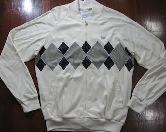 69f37af0fd0b91 Vintage Adidas Ivan Lendl Retro Tennis 80s polo Tracksuit top track jacket  warm up Rare Bj Borg M