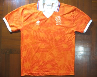 e010f78f7 Originals Vintage Lotto Holland Netherlands Euro 1992 Home Kit  19 VTG  Football Jersey Soccer Shirt Authentic 90s Size M