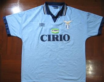 4b51cb5cf9b Originals Vintage Umbro SS Lazio Italy Serie A 1996 Rare Home Kit VTG  Football Jersey Soccer Shirt Authentic 90s Size L