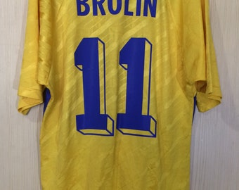 bef548855dc Originals Vintage Sweden World Cup 1994 Tomas Brolin Adidas Player Rare  Home VTG Football Jersey Soccer Shirt Authentic Size M