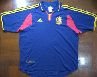 d54c4b5cf Originals Vintage Adidas Spain Espana Euro 2000 Away Home VTG Football  Jersey Soccer Shirt Authentic 90s Size L