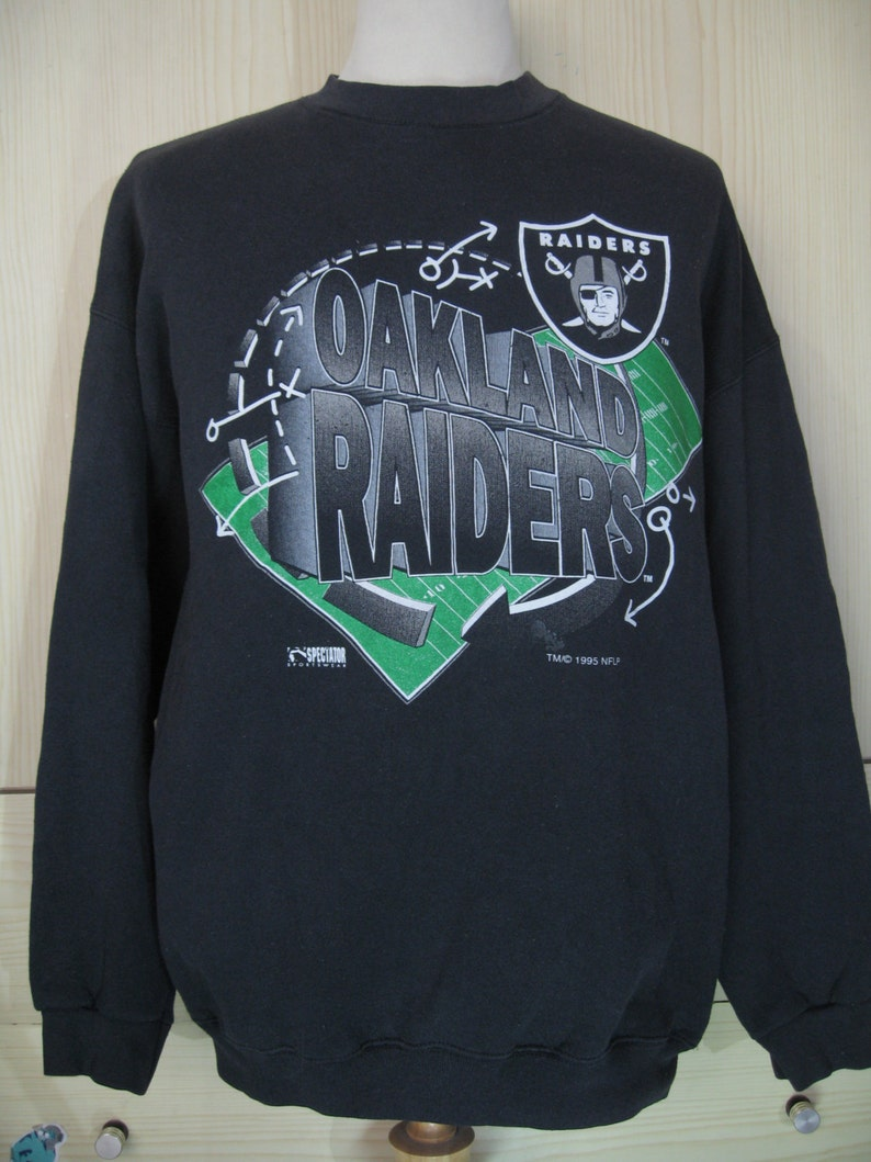 c0dcc2a7 Vintage 1990s 90s Oakland Raiders Nfl tultex 1995 Jersey Hip Hop Rap T  shirt OldSchool American Football Sweater Jumper Usa Large n.w.a