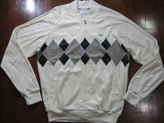 Vintage Adidas Ivan Lendl Retro Tennis 80s polo Tracksuit top track jacket warm up Rare Bj Borg M