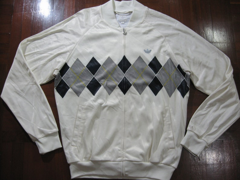fd48244768f8 Vintage Adidas Ivan Lendl Retro Tennis 80s polo Tracksuit top track jacket  warm up Rare Bj Borg M