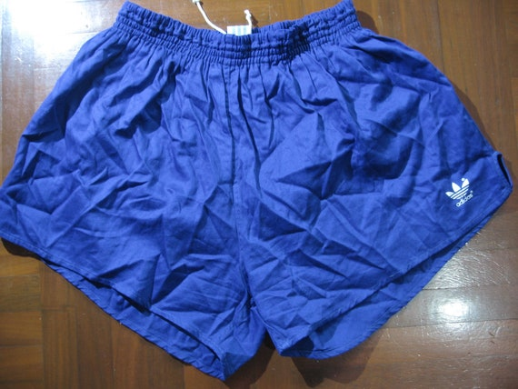 check out beauty new design Vintage AUTHENTIC 1980s West Germany Adidas Originals Shiny Nylon Glanz  Shorts Running Soccer Sprinter Pants