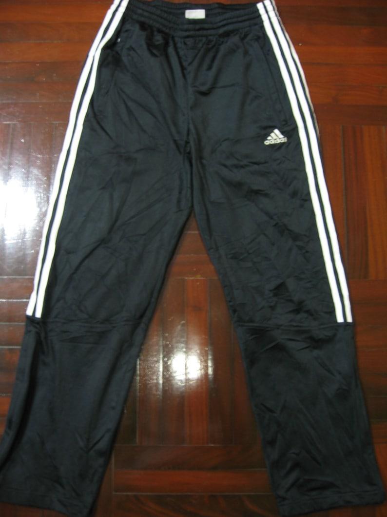 5ff4c1e9 Vintage Adidas Japan Black Retro Tracksuit Pants Ankle Zip | Etsy