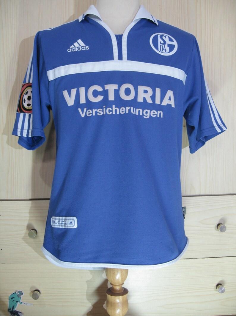 Vintage Adidas Shalke 04 Ebbe Sand Germany Bundesliga player  557d92274