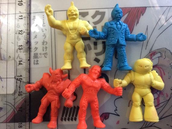 80s Popy Bandai Japan Kinnikuman Kinkeshi BLU 079 Mildman M.U.S.C.L.E Keshi