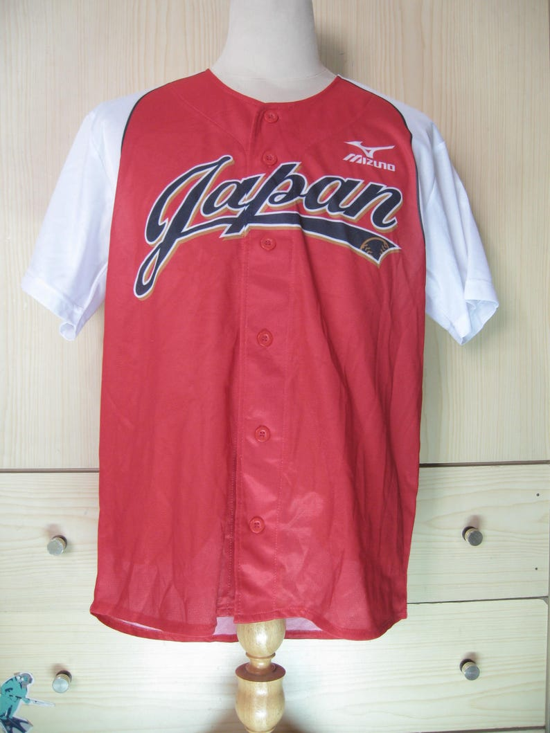 the best attitude a6a2f e6966 Vintage Originals 1990s Mizuno Team Japan Japanese Baseball T shirt L Rare