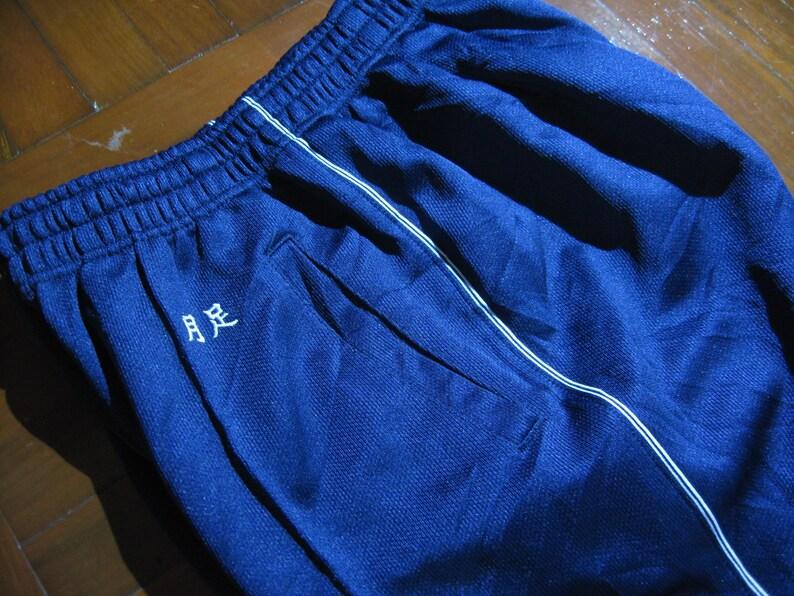 Size S Ladies Womens Vintage 1990s AUTHENTIC Japan Japanese Navy Blue Track suite Sport Pants Jogging Warm Up Pants Track Trousers Bottoms