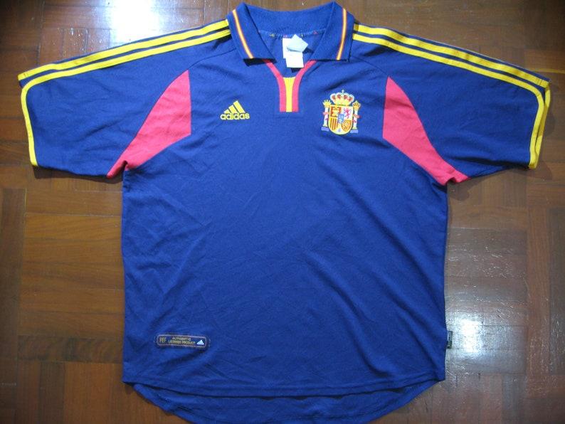 Originals Vintage Adidas Spain Espana Euro 2000 Away Home VTG  cac50cc8e