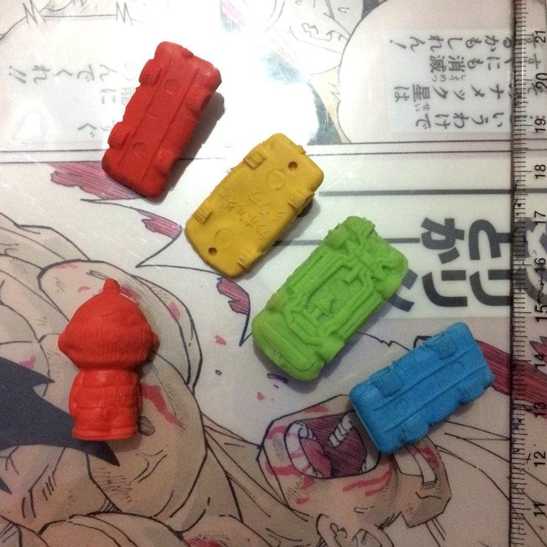 Vintage Retro toys 80s Japan Sport super Car cars Oldschool Kinkeshi Rubber toys M.U.S.C.L.E muscleman Figure toys LOT of 5 japanese