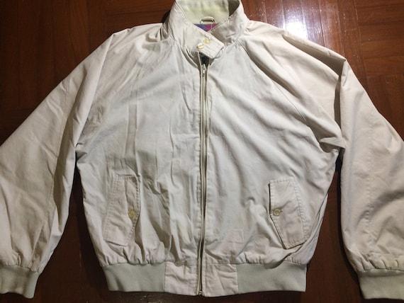 Size L Vintage Harrington Jacket Cotton plaid Oldschool zip up Mod Varsity Stadium Bomber Jacket Retro Sport Jacket 1980s