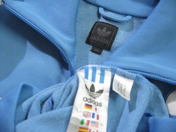 Details about NEW PRICE! Adidas Originals Vintage Navy Trimm Trab Track Top L 100% Authentic