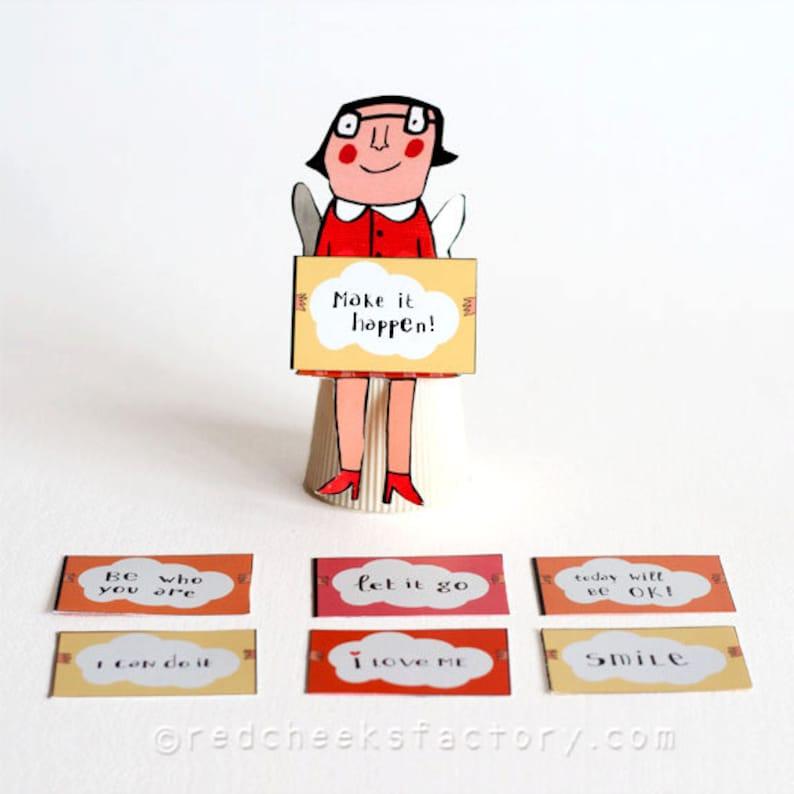 DIY 3D Affirmation Angela  paper doll   affirmation angel  image 0