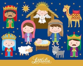 Nativity clipart - Christmas clipart - 15076