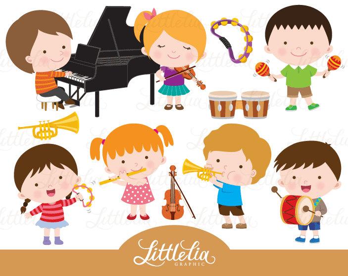 music class clipart musician clipart 16102 etsy rh etsy com Music Note Clip Art Music Teacher Clip Art