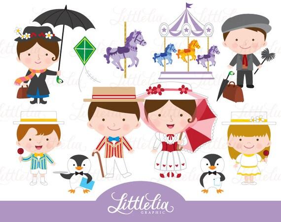 mary poppins clipart 16009 etsy rh etsy com mary poppins images clipart mary poppins clip art free