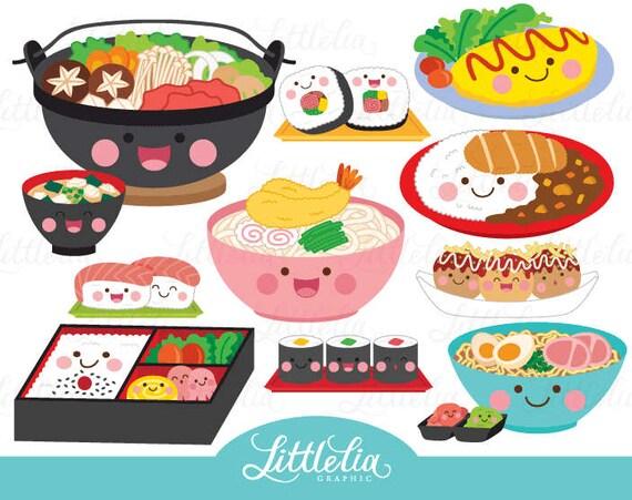 Japanese food kawaii Japanese food clipart 17019 | Etsy