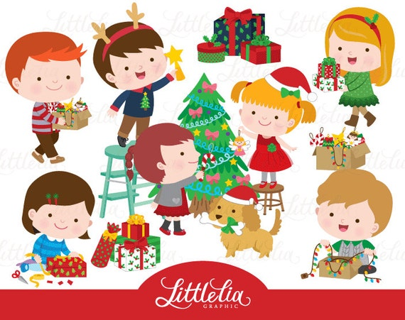 no l enfant christmasy clipart 16079 etsy. Black Bedroom Furniture Sets. Home Design Ideas