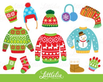 Ugly Christmas sweater - Christmas Clothing clipart - 15075