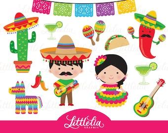 Fiesta clipart - Mexican cinco de Mayo clipart - 15058