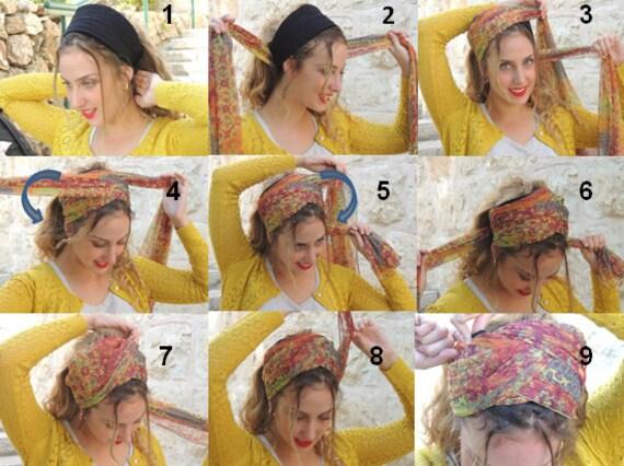 Wie man mein tuch diagonal zu binden jolly wickeln stirnband etsy - Bandana tuch binden ...