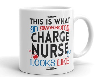 Funny Charge Nurse Gift Coffee Mug Manager Nurses Week Present Birthday Christmas Mothers Day Fathers By Smitten Kristin