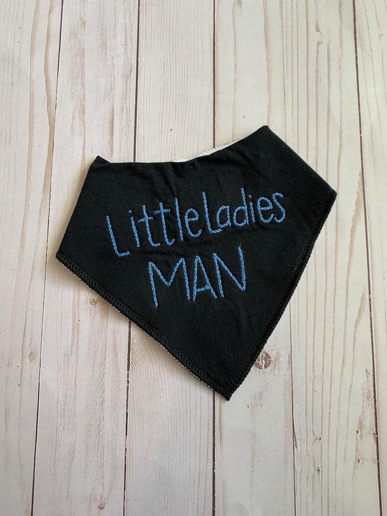 Little ladies man bandana bib  baby  ready to ship