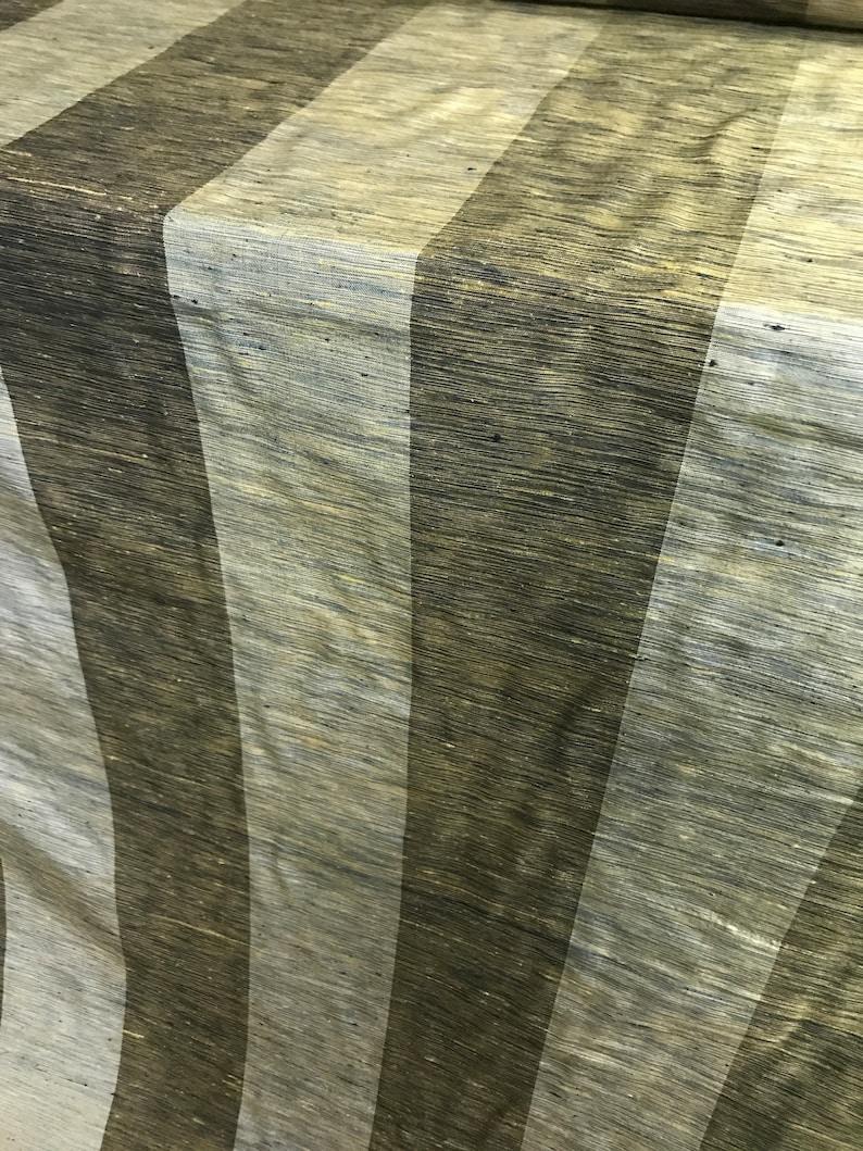 By The Yard. 54-55 Wide 100/% Silk Dupion Wide Stripe