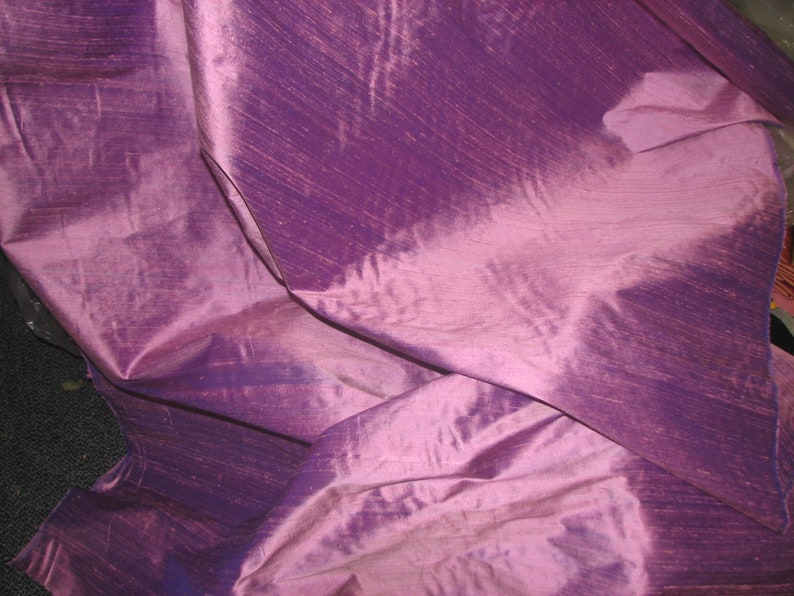 Iridescent Orchid 100/% Silk Dupion 44 Wide By the yard.