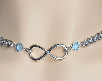 Infinity Anklet Submissive Day Collar with Locking Options 247 Wear