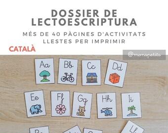 Dossier de Lectoescriptura Descarregable per a Nens en CATALÀ - Activitats de lletres - Printable - Educació Infantil