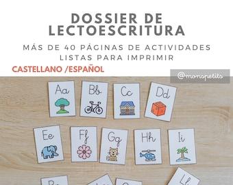 Dossier de Lectoescritura Descargable para Niños CASTELLANO/ESPAÑOL - Actividades de letras - Printable - Educación Infantil