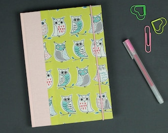 Baby Diary, memory book for the first baby the year, my first words, yellow baby diary, kids mouth, birth, pink, yellow, owl