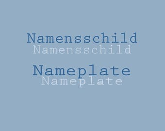 nameplate, personalized, your name,