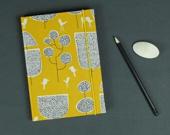 Customizable notebook, travel diary, Bullet Journal, note book, Diary, Cloth notebook, notebook, yellow black