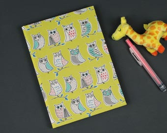 Baby diary, Baby diary, yellow Baby Diary, birth, Christening, baptism, Babyshower children's mouth, birth, yellow, colorful owls, owls