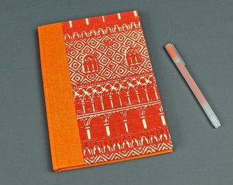 Notebook orange, Bullet Journal, travel journal,  Diary Venice, handmade paper, Idea book, diary, notebook, orange with pink cream notebook