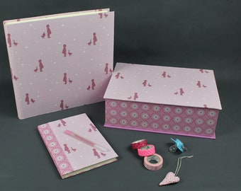 Baby, baby Keepsake box, gift baptism, souvenir set girl, photo album, Baby diary, treasure Chest Baby, pink, pink