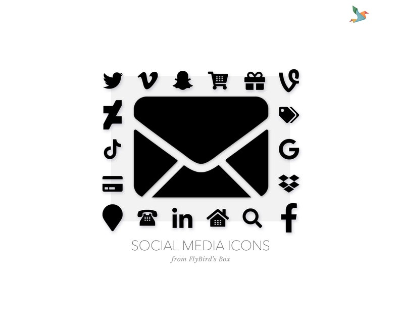 Social media icons Minimal  black image 0